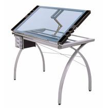 Mesa Para Dibujo Artístico De Cristal Escritorio Dibujar