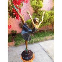 Bailarina De Ballet, Escultura Artística De Bronce Op4