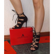 Zapatillas Fina Arthuro-azpeitia Tacon Romana Tiras Moda Wow