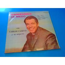 Disco Lp - Carlos Campos Y Su Orquesta Danzones De Miedo