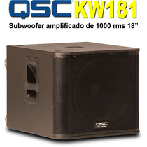 Bajo Activo Kw181 Qsc 1000 Wats