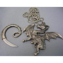 Navaja Dije De Dragon Con Cuchilla Oculta Excelente Bfn