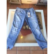 Pantalon Guess Original, Mezclilla, Color Azul Claro.