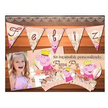 Kit Imprimible Personalizado Peppa Pig Cerdita Pepa Candy