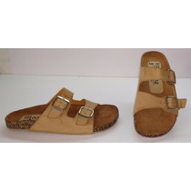 Sandalias Tipo Birkenstock Arizona 102 Beige Camel H&m Zara