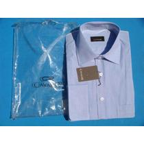 Camisa Vestir Caballero Azul Blanc Manga Larga Cavalier