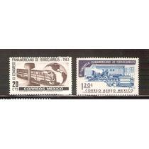 1963 Xi Congreso Panamericano De Ferrocariles 2 Sellos Mint