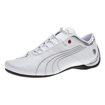 Tenis Puma Future Cat M1 Ferrari Big Cat White Silver Lo Op4