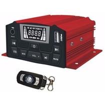 Amplificador Para Moto 4 Canales 1000w Usb Alarma Aux Fm Vbf