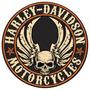 Harley Davidson Boton Skull Lamina Resaltado Retro Vintage