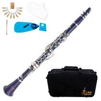 Clarinete Azul Oscuro Lade Profesional Nuevo Barato Estuche