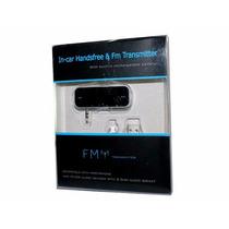 Transmisor De Audio Fm Conector 3.5mm Manoslibres Autos