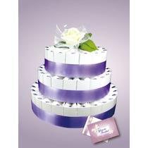 Pastel 3 Pisos Purpura De Princesa Bolsitas Recuerdo!
