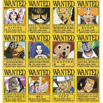 Coleccion De Arte Visual De One Piece Wanted Mod3 12 Cromos
