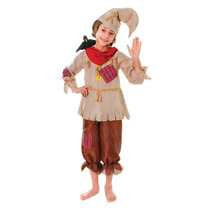 Espantapájaros Disfraz - Pequeño 116cm Niños Niñas Asist
