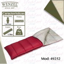 Bolsa De Dormir Adulto Marca Wenzel Modelo 49252 Rojo