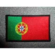 Bandera Bordada De Portugal Parche Escudo