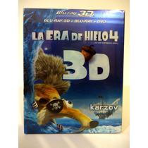 La Era De Hielo 4, Blu-ray 3d + Blu-ray + Dvd