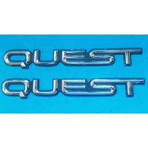 Emblemas (2) Para Camioneta Quest Originales Buenos