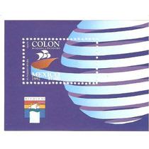 1992 Descubrimiento De América-génova ¨92 Hoja Souvenir Mex.