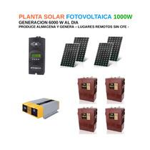 Planta De Energia Solar Fotovoltaica 1000w - Alta Calidad -