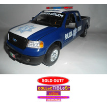 Ford Lobo Policia Federal Die Cast Metal Custom Escala 1/18