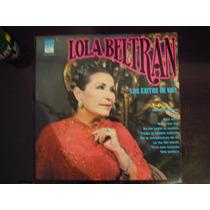 Lola Beltran Lp Y Los Exitos De Hoy Vinyl Color Azul