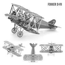 Mini Rompecabezas/puzzle Metalico 3d Avión Fokker D.vii