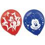 Mickey Mouse Impreso Látex Globos- Colores Surtidos