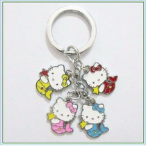 Hello Kitty Sirena Llavero De Dijes Acero Inoxidable 092