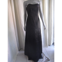 Vestido Color Negro Talla 6 Marca David's Bridal