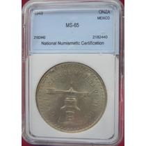 Moneda México 1 Onza Troy Primera 1949 Ms-65 Plata Excelente