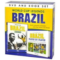Brasil Dvd - Copa Mundial Leyendas Libro Gift Set Oficial