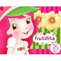 Kit Imprimible Frutillita Rosita Fresita Diseñá Tarjetas