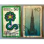 Lote De 2, Sello Postal Alemania, 1977 Estampilla