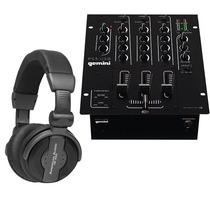 Gemini Ps3 Mezcladora 3 Canales + American Audio Hp550 Audif