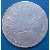 Moneda 8 Reales Culiacán 1885 Gn Con Error