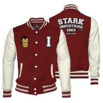 Iron Man Varsity Jacket Mujer Mascara De Latex