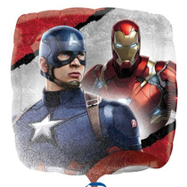 Oferta! 10 Globo Civil War Capitan America Iroman Envío Bara