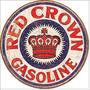 Red Crown Gas Logo Cartel Anuncio Lamina Poster Letrero Retr