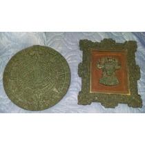 Antiguo Calendario Azteca Y Figura Maya Zarebski