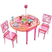 Barbie Cena Para Postre Conjunto Comedor