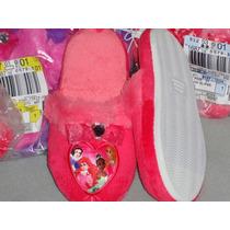 Disney Pantunflas Princesas Import Mex.#18 Usa 11 L 20 Cm.