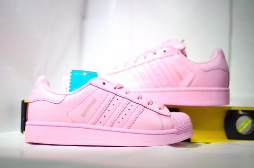 tenis adidas superstar rosas