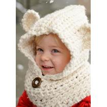 Gorro Y Cuello Oso Crochet Fn4