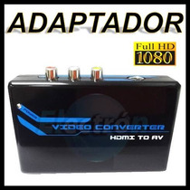 A21 Adaptador De Hdmi A Rca Y S-video Monitor Ps3 Xbox360.