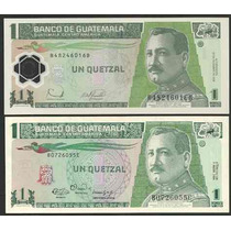 Grr-2 Billetes Guatemala 1 Quetzál 1990-2011, Papel-plástico