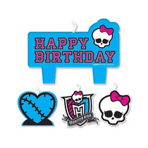 Monster High Vela Fiesta Infantil Decoracion Pastel Recuerdo