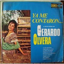 Bolero, Gerardo Olvera. Lp 12´, Hecho En Mexico .eex