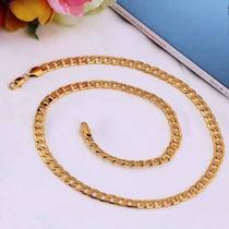 Cadena De Eslabones De 7cm. X 50 Cm. Oro 18k Gold Plated.